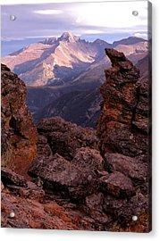 Longs Peak From Rock Cut  Acrylic Print