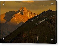 Acrylic Print featuring the photograph Long's Peak by Gary Lengyel