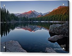 Longs Peak Reflection On Bear Lake Acrylic Print