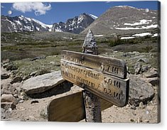 Longs Peak Seen From Chasm Lake Trail Acrylic Print