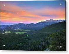 Acrylic Print featuring the photograph Longs Peak Sunset by David Chandler