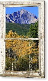 Longs Peak Window View Acrylic Print