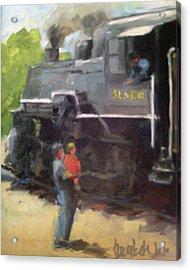 Look At The Train Acrylic Print