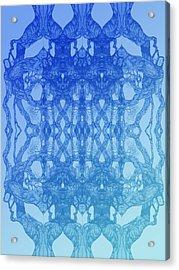 Look At You Tree 11 Hybrid Blue Acrylic Print