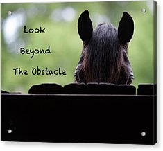 Look Beyond The Obstacle Acrylic Print