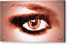 Look Into My Eye Acrylic Print by Paula Ayers