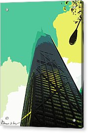 Look Up Chicago Acrylic Print by Russ Harris