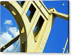 Look Up Pittsburgh Pa Acrylic Print by Kristen Vota