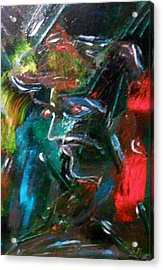 Acrylic Print featuring the painting Looking Ahead by Ray Khalife