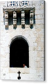 Looking At The Cross Acrylic Print by Andrea Simon