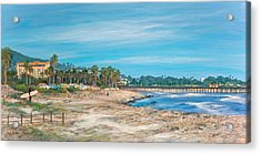 Looking Back At Surfers Point Acrylic Print by Tina Obrien