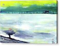 Acrylic Print featuring the painting Looking Beyond by Anil Nene