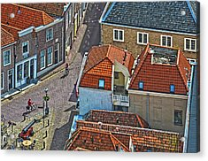 Looking Down From The Church Tower In Brielle Acrylic Print