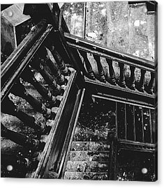 Looking Down Old Staircase Acrylic Print by Dylan Murphy