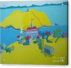 Looking Down On Monhegan And Manana Islands Acrylic Print by Debra Bretton Robinson