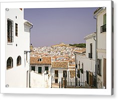 Looking Down Over Antequera  From Near The Church Of Santa Maria La Mayor  Acrylic Print by Mal Bray