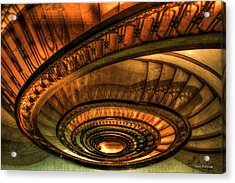 Looking Down The Ponce Stairs Opened In 1913 Acrylic Print by Reid Callaway