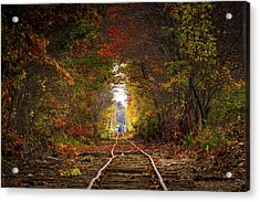 Looking Down The Tracks Acrylic Print