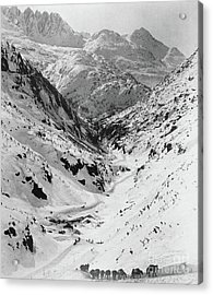 Looking Down Through Cutoff Canyon From Half Mile Below White Pass Summit, During The Klondike Gold  Acrylic Print