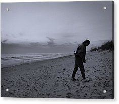 Looking For A Smooth Stone  Acrylic Print by John Hansen