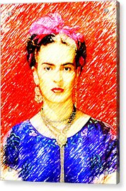 Looking For Frida Kahlo Acrylic Print