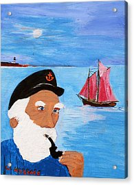 Looking For His Ship To Come In Acrylic Print