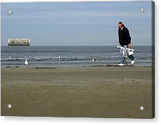 Looking For Worms Acrylic Print by Jez C Self
