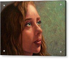 Looking Forward Acrylic Print by James W Johnson
