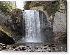 Looking Glass Falls Front View Acrylic Print