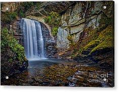 Looking Glass Falls In The Blue Ridge Mountains Brevard North Carolina Acrylic Print