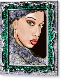 Looking Glass Acrylic Print by Maritza De Leon