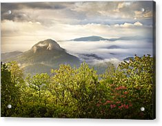 Looking Glass Sunrise - Blue Ridge Parkway Landscape Acrylic Print by Dave Allen
