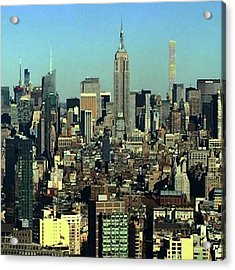Looking Homeward From #1wtc Acrylic Print by Gina Callaghan