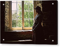 Looking Out Of The Window Acrylic Print