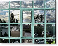 Acrylic Print featuring the photograph Looking Out The Window by Bill Thomson