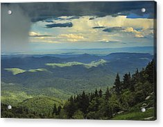 Looking Over The Valley Acrylic Print