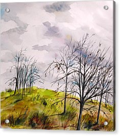 Acrylic Print featuring the painting Looking Past To The Changing Sky by John Williams