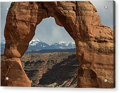 Looking Through Delicate Arch Acrylic Print