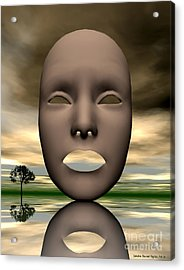 Looking Through Acrylic Print by Sandra Bauser Digital Art