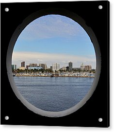Looking Through The Queen's Porthole Acrylic Print