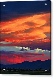 Looking To Boulder Acrylic Print by James BO  Insogna