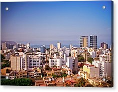 Acrylic Print featuring the photograph Looking Towards The Sea - Miraflores by Mary Machare