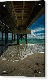 Looking Under The Pier Acrylic Print