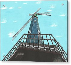 Looking Up At A Windmill Acrylic Print