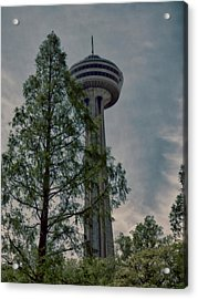 Looking Up At The Skylon Acrylic Print by Leslie Montgomery