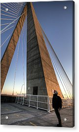 Looking Up Cooper River Bridge Acrylic Print by Dustin K Ryan