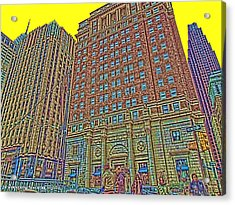 Looking Up In Love Park Acrylic Print