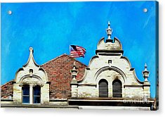 Acrylic Print featuring the photograph Looking Up - Scranton Proud by Janine Riley