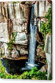 Lookout Mountain Waterfall Acrylic Print by Joann Copeland-Paul