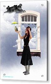 Looks Like Rain  Acrylic Print by Crispin  Delgado